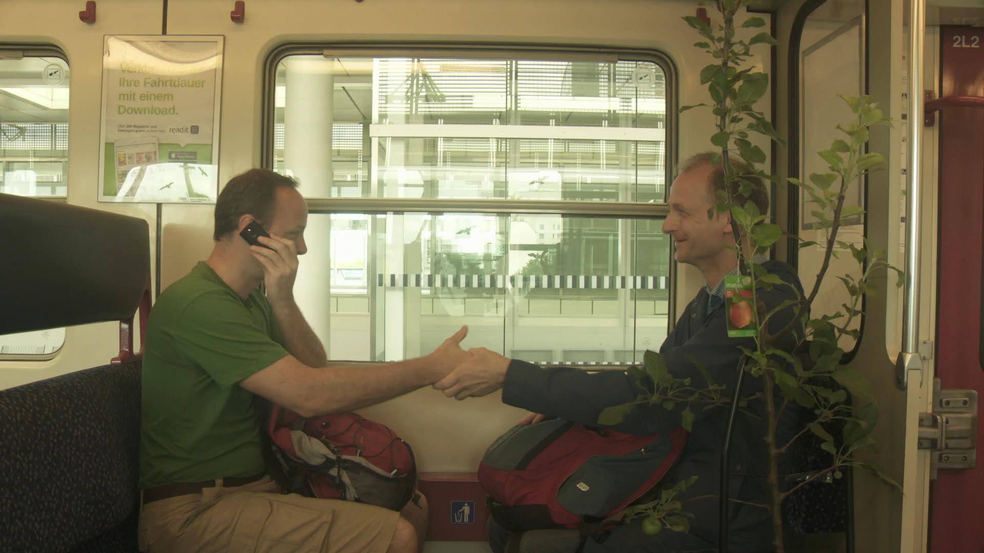 Gerald in S-Bahn